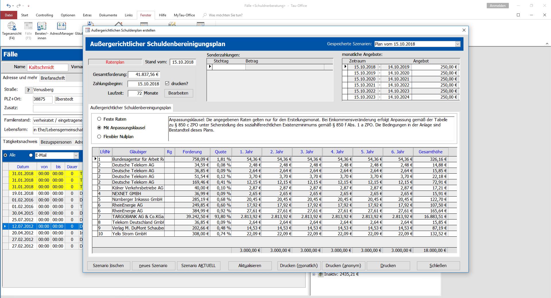Schuldenbereinigungsplan-compressor